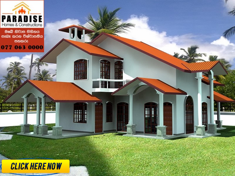 Building construction in srilanka lanka paradise homes for Vajira house designs with price