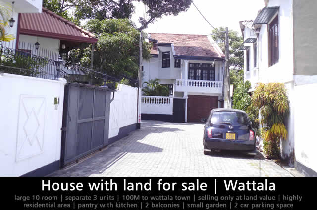 House with land for sale Wattala