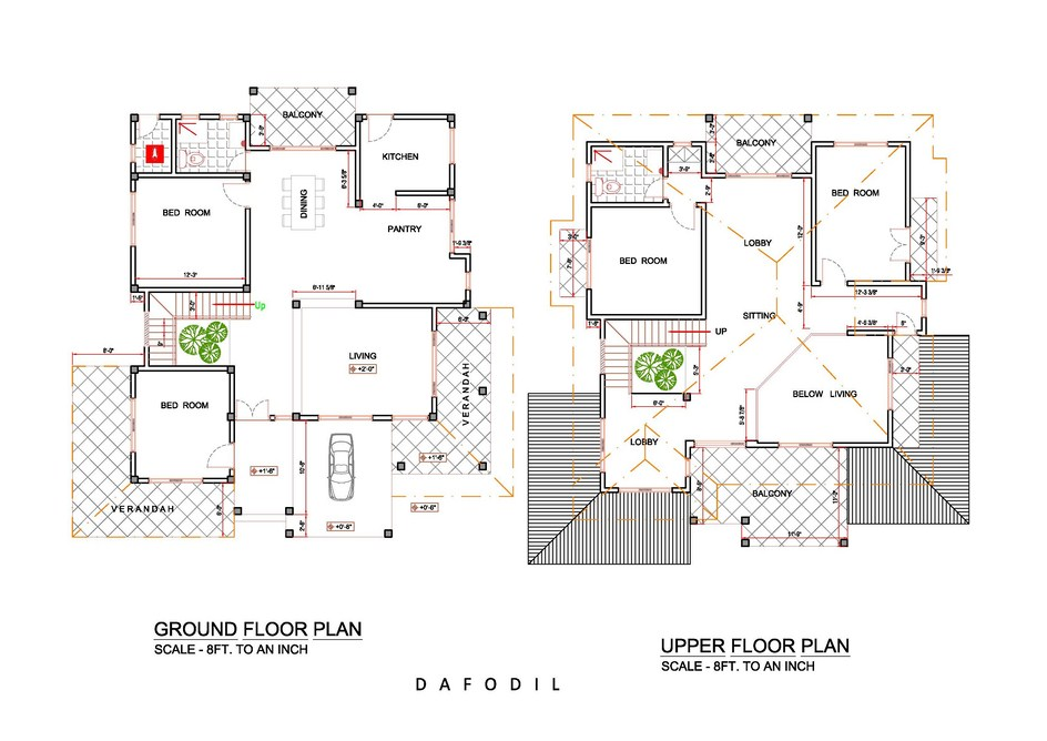 Dafodil plan singco engineering dafodil model house for House construction plan